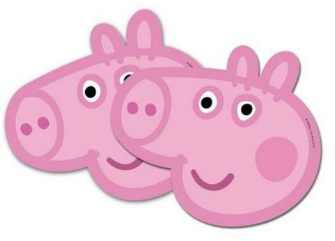 6 Peppa Pig Masks