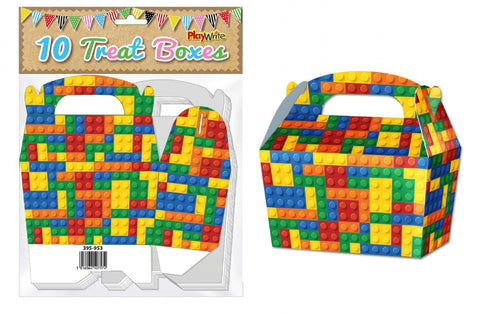 10 Building Bricks Treat Boxes