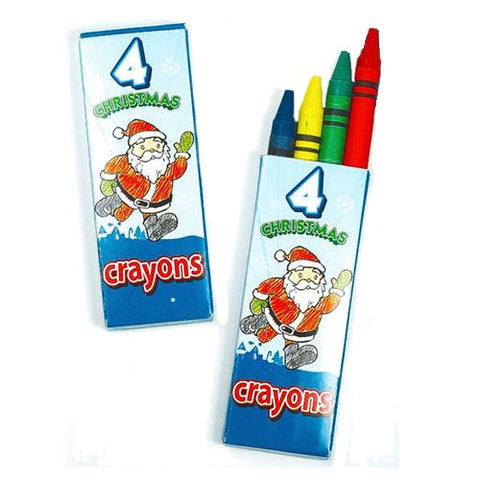 6 Packets Of Christmas Wax Crayons