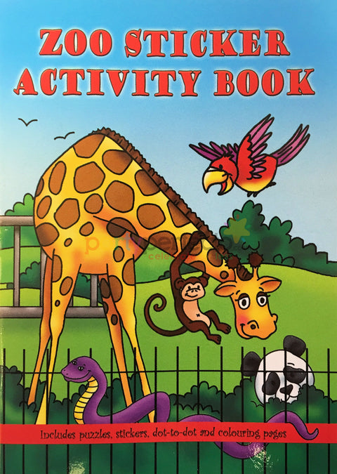 6 Zoo Sticker Activity Books