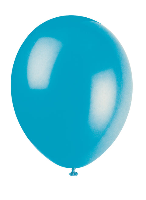 10 Turquoise Latex Balloons