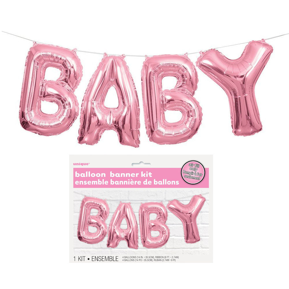 Baby Balloon Banner Kit (Pink)