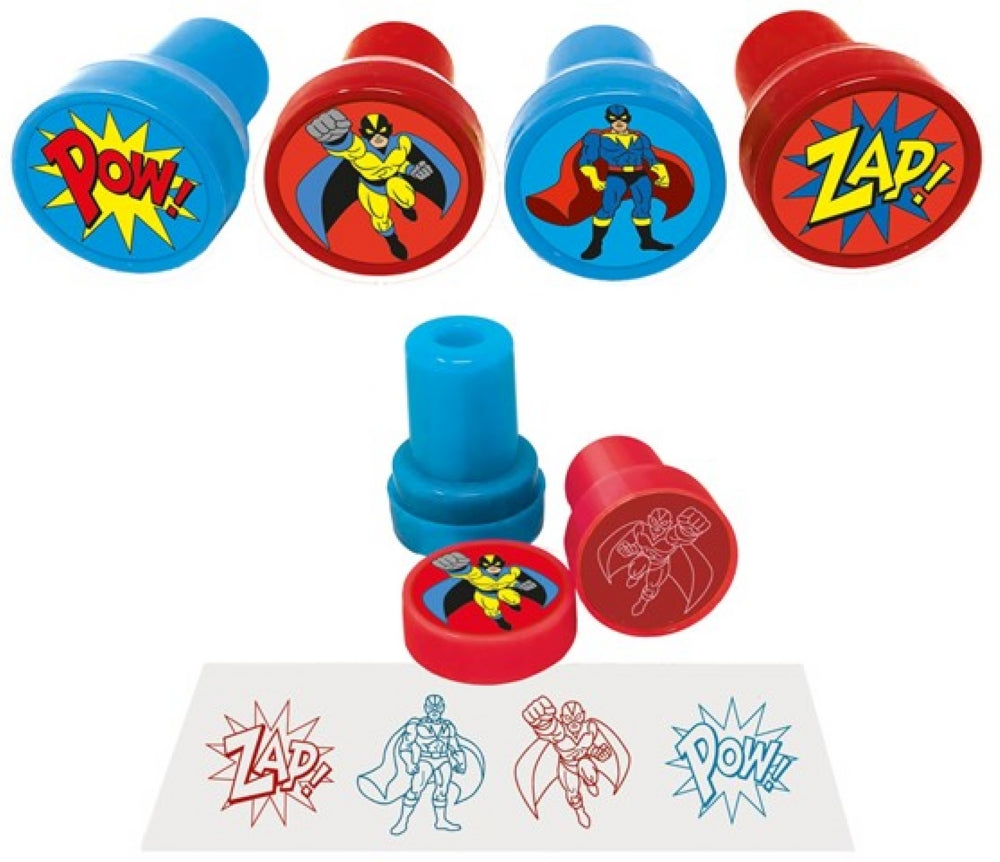 6 Super Hero Ink Stamps
