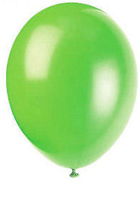 50 Neon Lime Latex Balloons