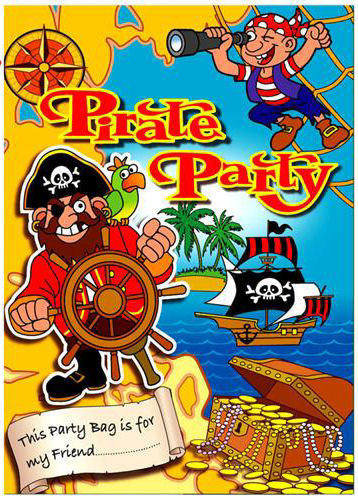 6 Pirate Empty Party Bags