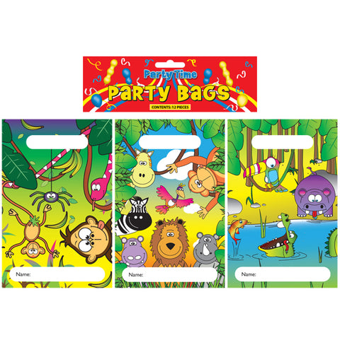 12 Jungle Empty Party Bags - Party Perfecto