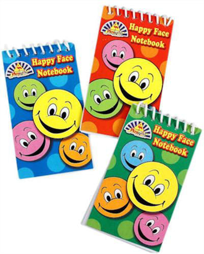6 Happy Face Notebooks