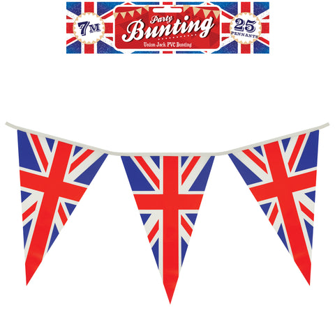 Union Jack 7m Triangle Flag Bunting
