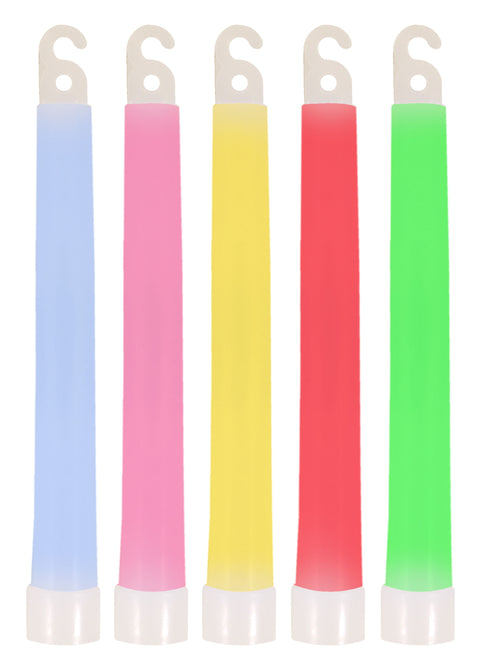 5 Coloured Glow Sticks