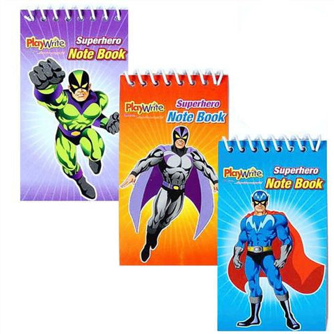 6 Super Hero Notebooks