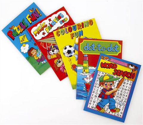 6 Assorted Activity A6 Books