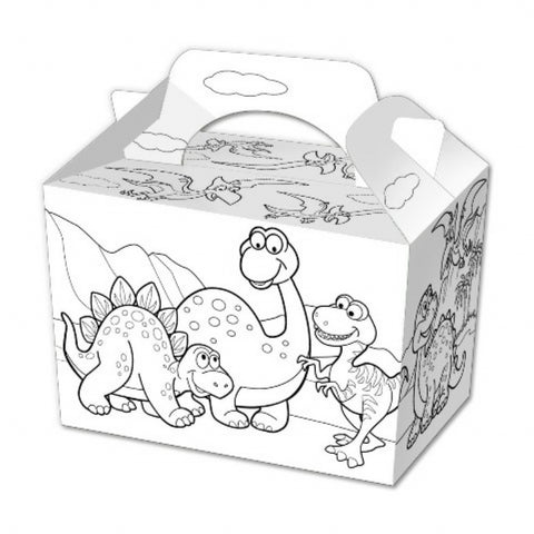 10 Colour In Dinosaur Boxes