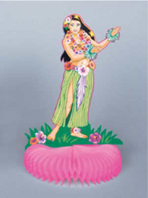 Hula Girl Honeycomb Table Decoration