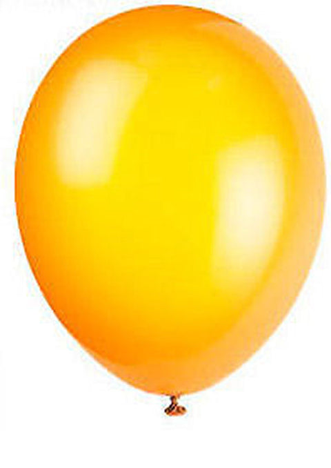 50 Citrus Orange Latex Balloons