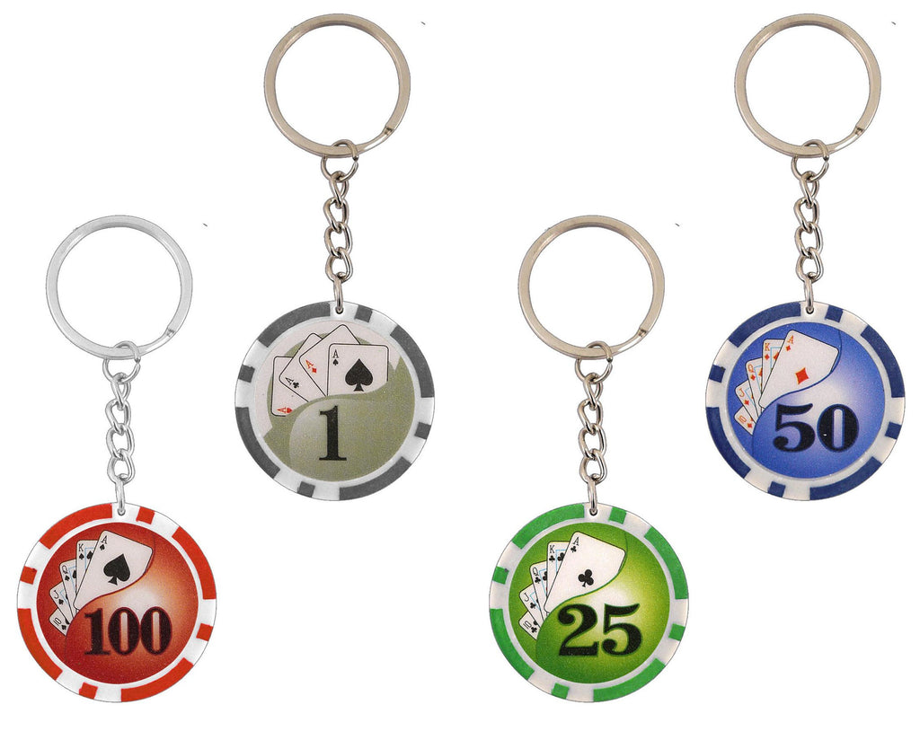 6 Casino Chip Keyrings