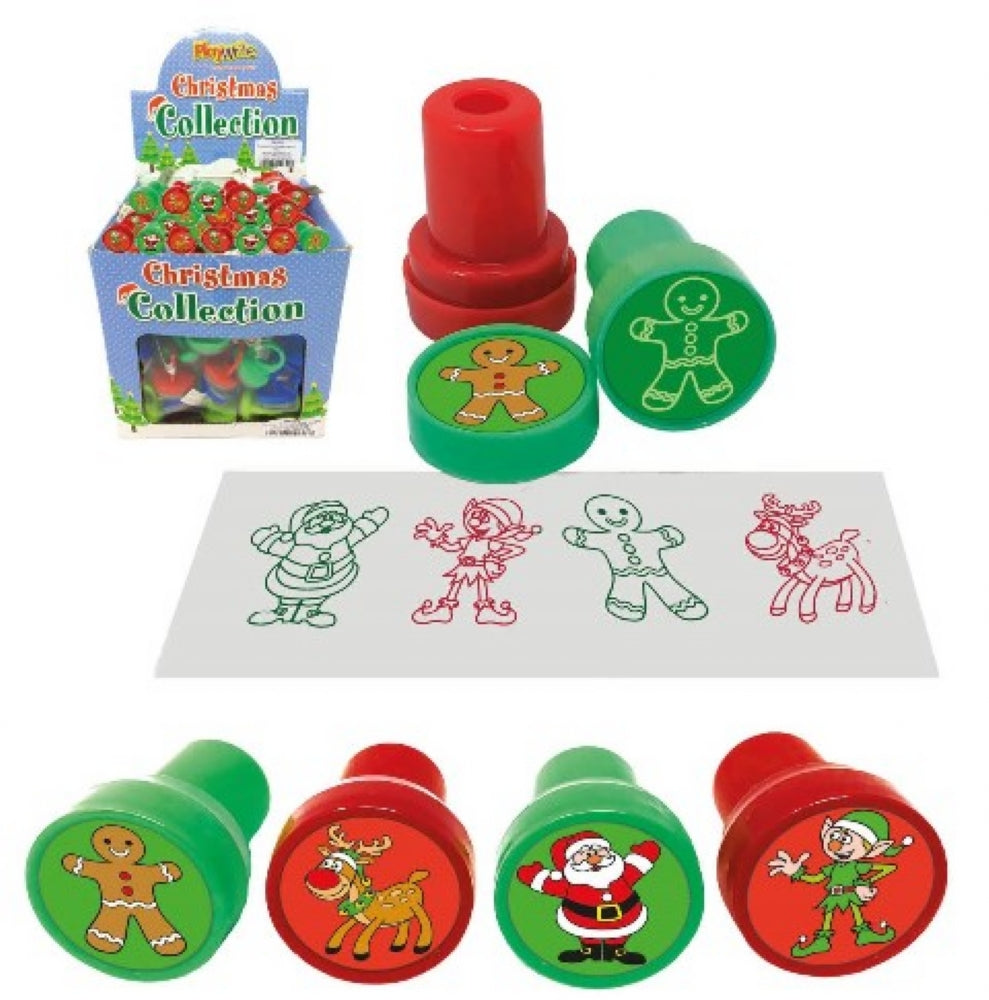 6 Christmas Ink Stamps