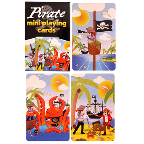 6 Pirate Miniature Playing Card Sets