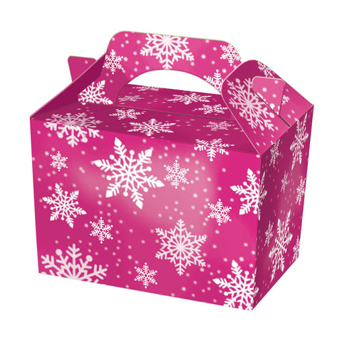 10 Purple Snowflake Boxes - Party Perfecto