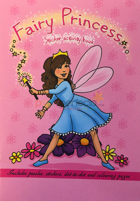 6 Fairy Princess Sticker Activity Books