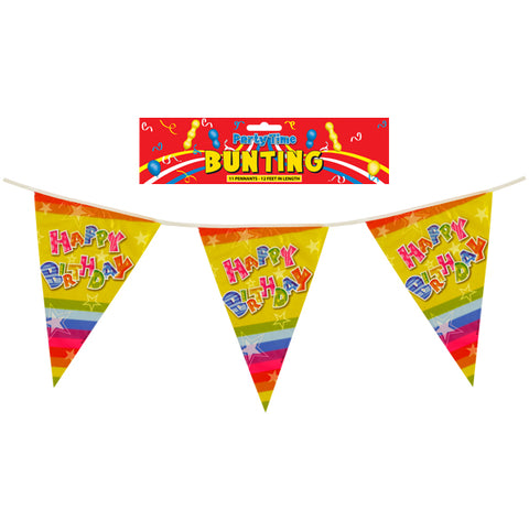 Happy Birthday 12ft Bunting