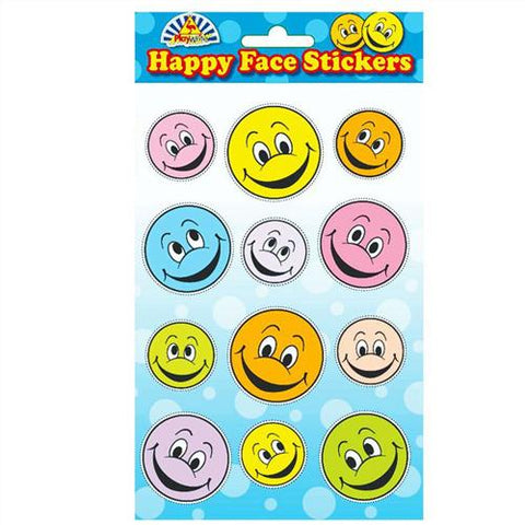 6 Smiley Face Sticker Sheets