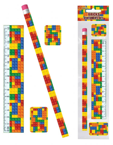 6 Building Blocks Stationery Sets