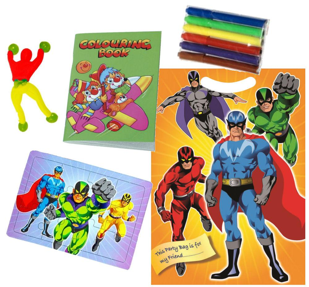 Super Hero - Filled Party Bag - Party Perfecto