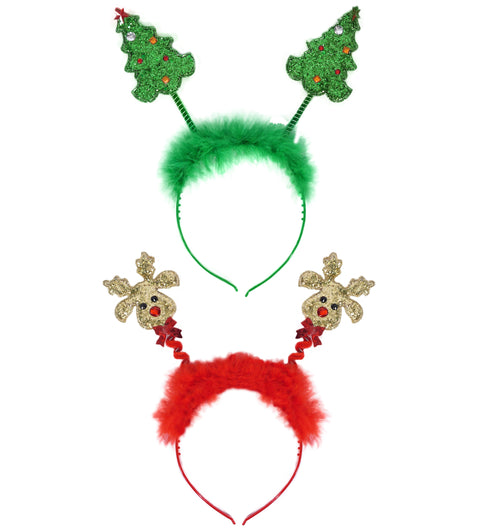 Christmas Glitter Bopper Headband