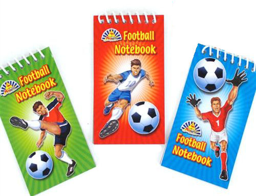 6 Football Notebooks