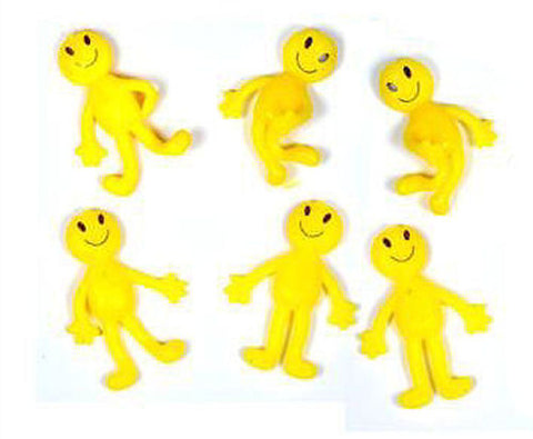 6 Stretchy Smiley Men