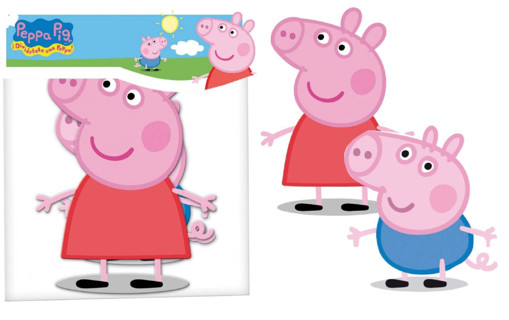 2 Peppa Pig Party Cut Outs