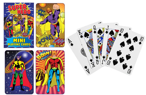 6 Super Hero Miniature Playing Card Sets