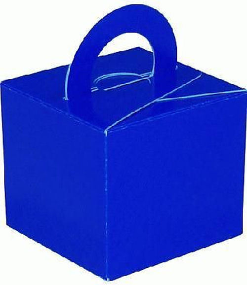 10 Royal Blue Balloon Boxes - Party Perfecto