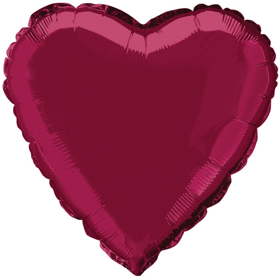 Burgundy Foil Heart Balloon