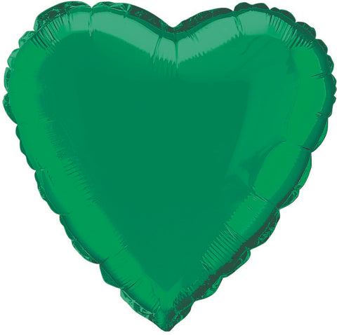 Emerald Green Foil Heart Balloon