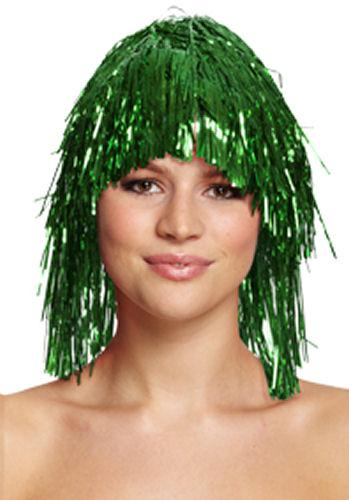 Green - Tinsel Wig - Party Perfecto