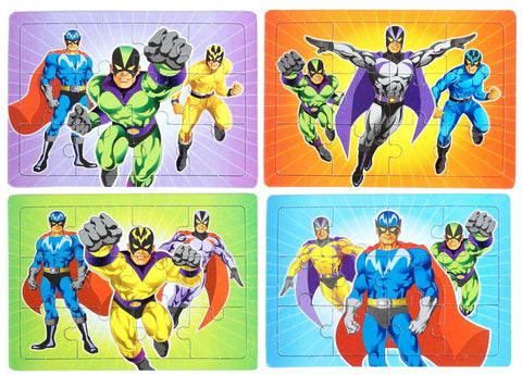 6 Super Hero Jigsaw Puzzles
