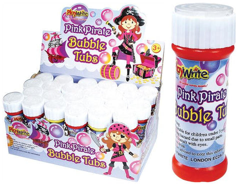 24 Pink Pirate Bubble Tubs 25ml