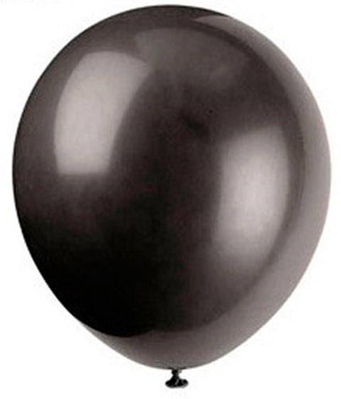 50 Phantom Black Latex Balloons