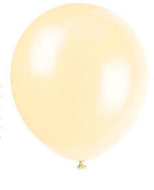 50 Ivory Cream Latex Balloons - Party Perfecto