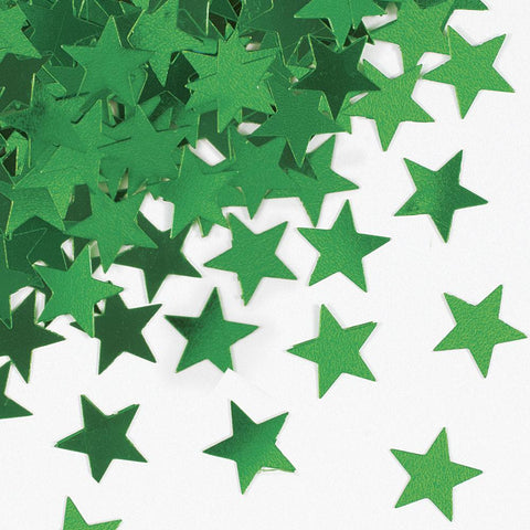 Green Star Confetti - Party Perfecto
