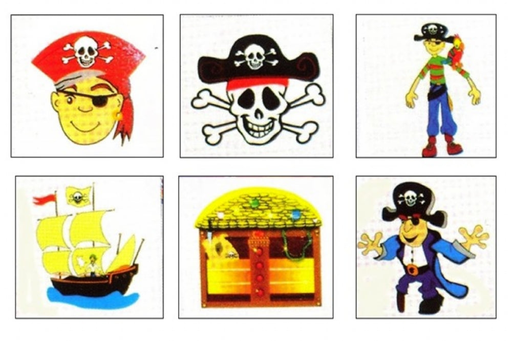 288 Pirate Temporary Tattoos