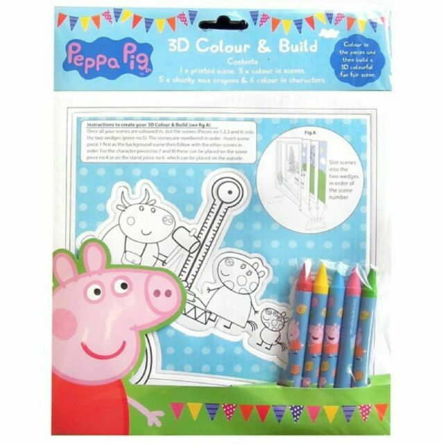 Peppa Pig 3D Colour & Build