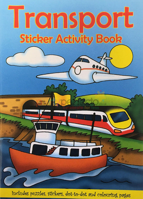 6 Transport Sticker Activity Books