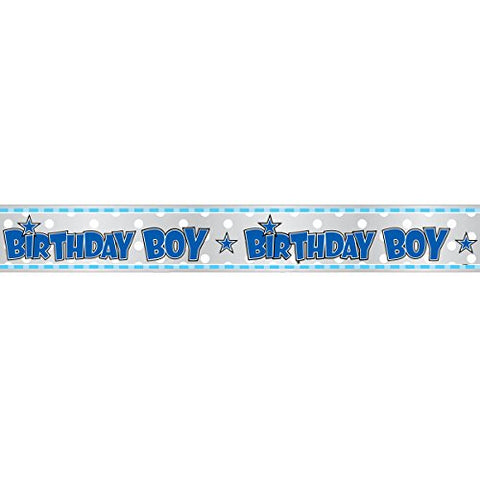 Birthday Boy 12ft Foil Banner