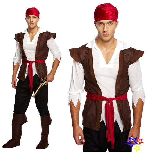 Male Caribbean Pirate Costume - Party Perfecto