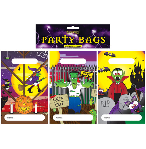 12 Halloween Empty Party Bags