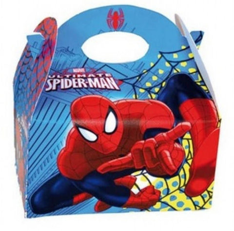 6 Spiderman Party Boxes