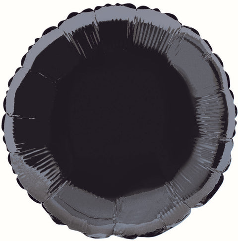 Black Foil Round Balloon