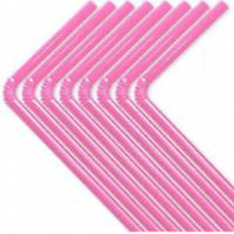 50 Hot Pink Flexable Plastic Straws